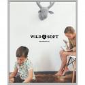 Déco murale enfant Trophée de chasse Cerf en pied de poule