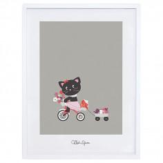 Tableau enfant Affiche encadrée Chat Une belle journée Lilipinso