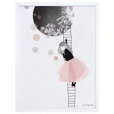 Tableau enfant Affiche encadrée  La lune - Lilipinso