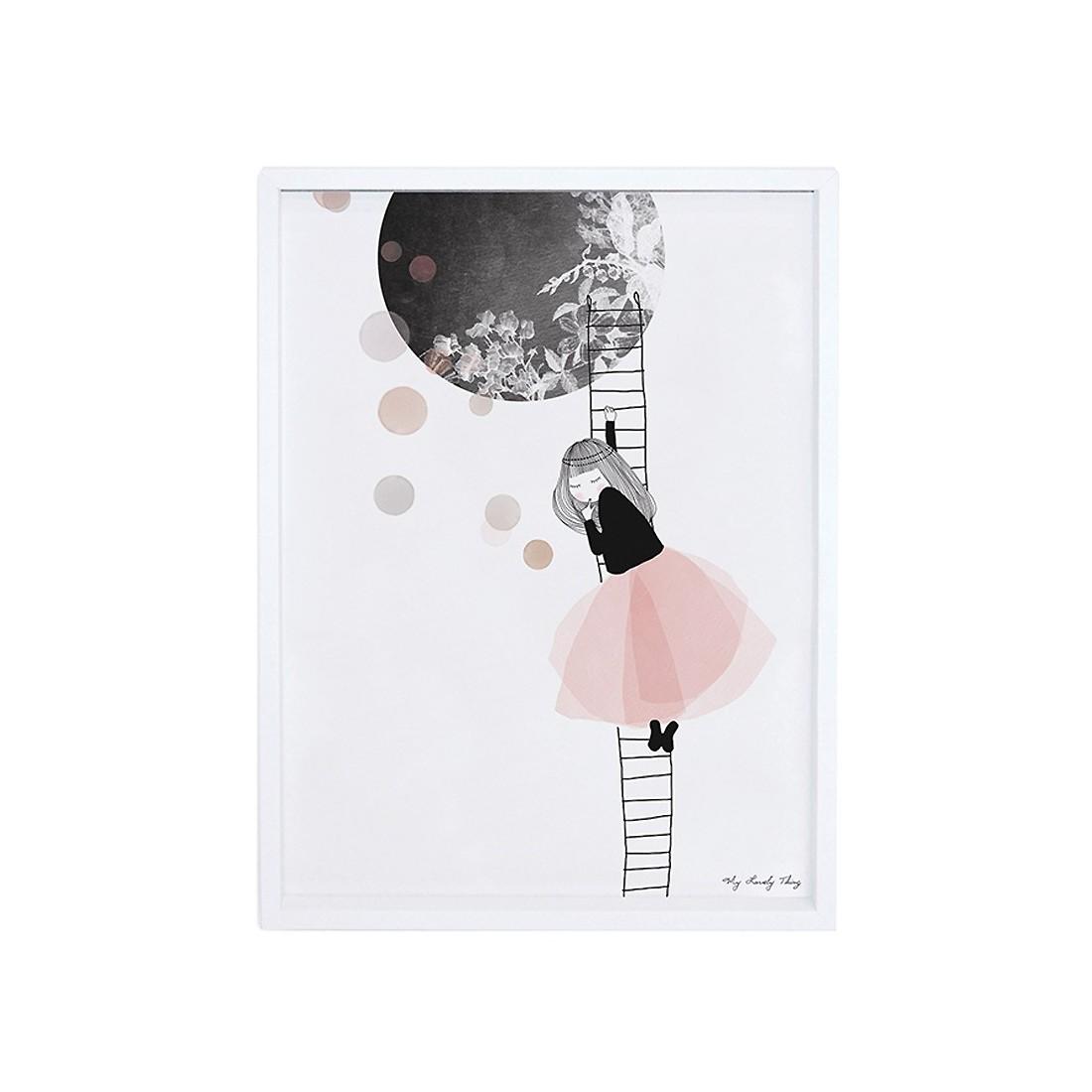 Chambre Fille Kidkraft : Tableau enfant affiche encadrée la lune lilipinso ma
