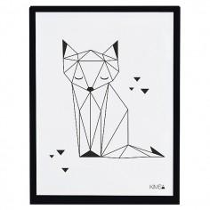 Tableau enfant Affiche encadrée Renard Origami Lilipinso