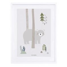 Tableau enfant Affiche encadrée Ours dans les bois - Lilipinso