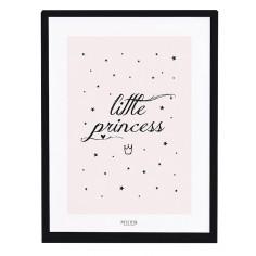 Tableau enfant Affiche encadrée Petite Princesse rose - Lilipinso