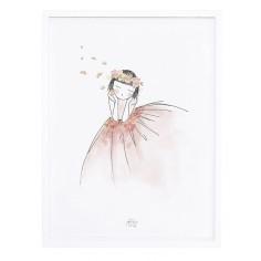 Tableau enfant Affiche encadrée Jeune fille rêveuse - Lilipinso