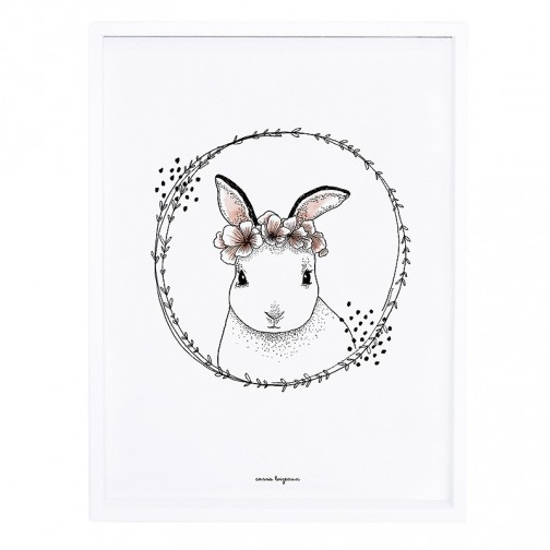Tableau enfant Affiche encadrée Lapin blanc - Lilipinso