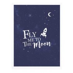 Tableau enfant Affiche encadrée Voyage sur la lune Lilipinso