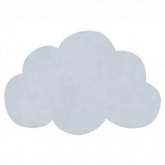 Tapis enfant coton Nuage bleu bébé - Lilipinso