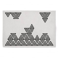 Tapis enfant coton rectangle Bohème gris et noir - Lilipinso