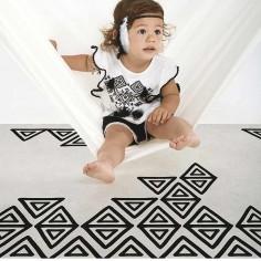 tapis boheme noir et blanc