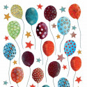 Planche Stickers Enfant Ballons et étoiles multicolores - Lilipinso