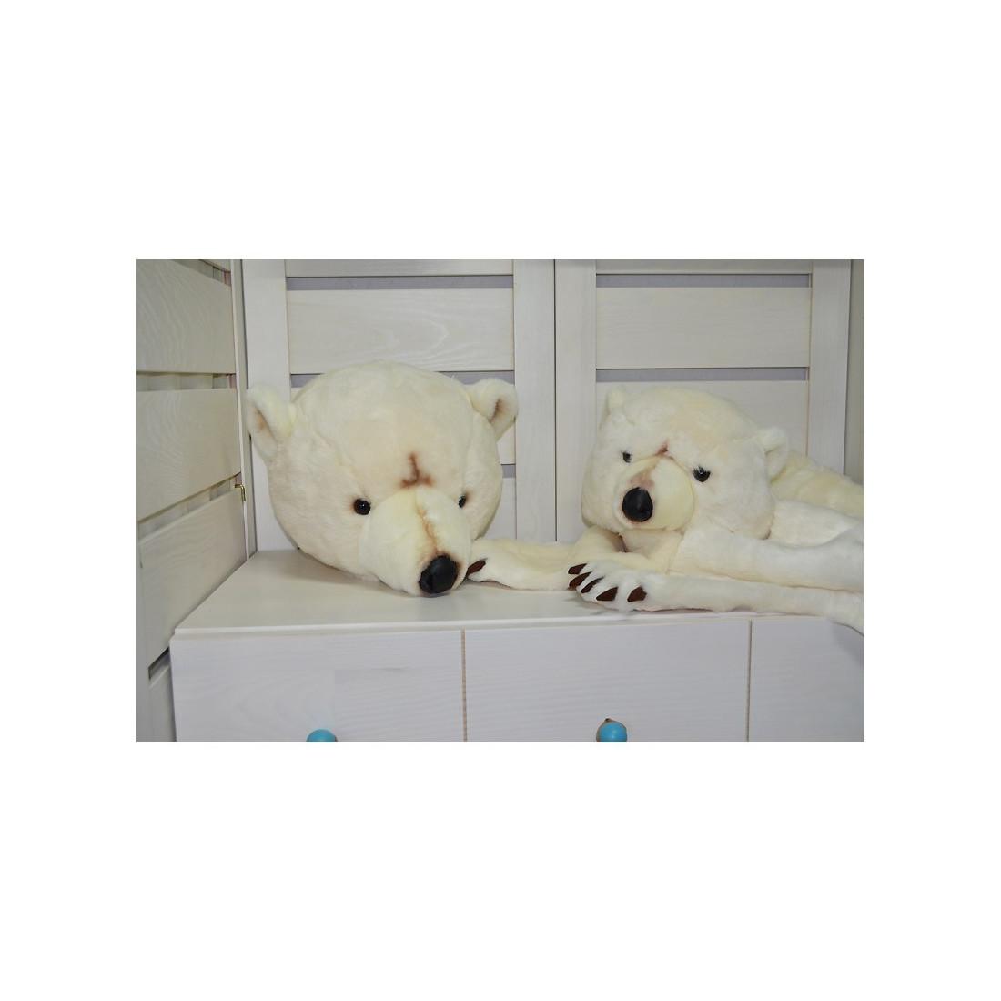 d co murale enfant peluche t te d 39 ours blanc bibib ma chambramoi. Black Bedroom Furniture Sets. Home Design Ideas