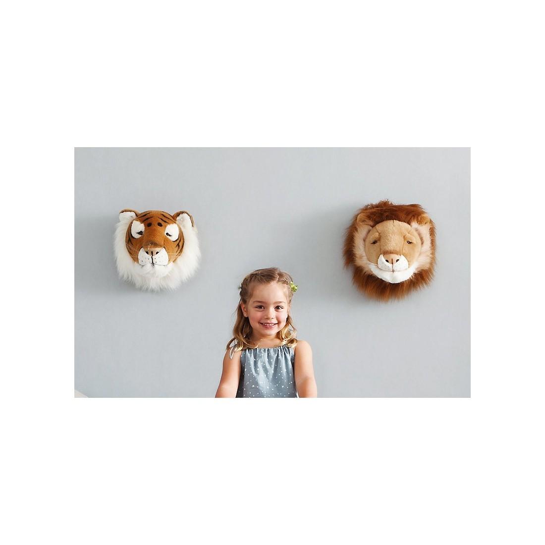 D co murale enfant peluche t te de lion bibib ma chambramoi - Deco murale enfant ...