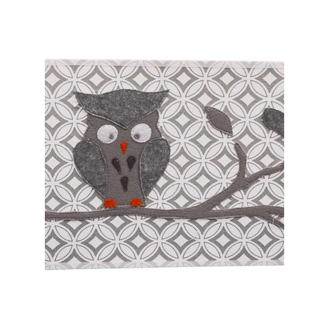 applique murale enfant chouette grise taftan ma chambramoi. Black Bedroom Furniture Sets. Home Design Ideas