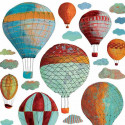Stickers pour Enfant Nuages et montgolfières Lilipinso