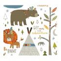 Stickers pour enfant Petit indien - Lilipinso