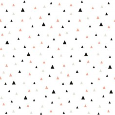 Papier peint chambre enfant Triangles noir rose beige- Lilipinso
