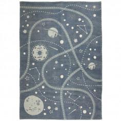 Tapis enfant coton Espace et galaxie - Nattiot