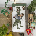 Housse de couette enfant Effet Trompe oeil Dinosaure Rex- Snurk