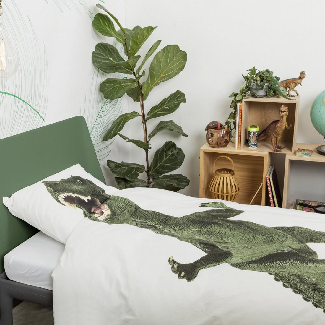 Housse de couette enfant dinosaure rex snurk ma chambramoi - Housse de couette dinosaure ...