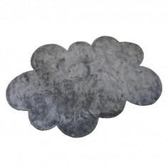 Tapis enfant Nuage gris foncé effet soie médium Pilepoil