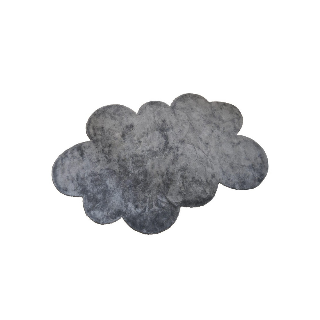 tapis enfant nuage gris fonc effet soie m dium pilepoil. Black Bedroom Furniture Sets. Home Design Ideas