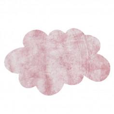 Tapis enfant Nuage rose clair effet soie médium Pilepoil