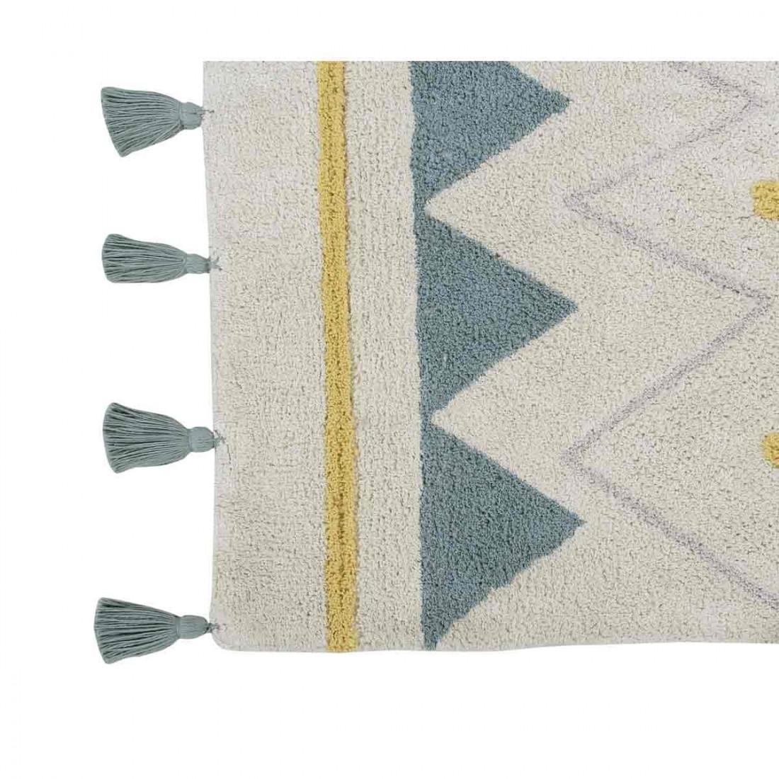 tapis coton lavable motifs azt que bleu jaune gris noir lorena canals ma chambramoi. Black Bedroom Furniture Sets. Home Design Ideas