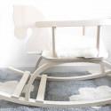 Tapis enfant coton lavable gris nuages blanc Lorena Canals