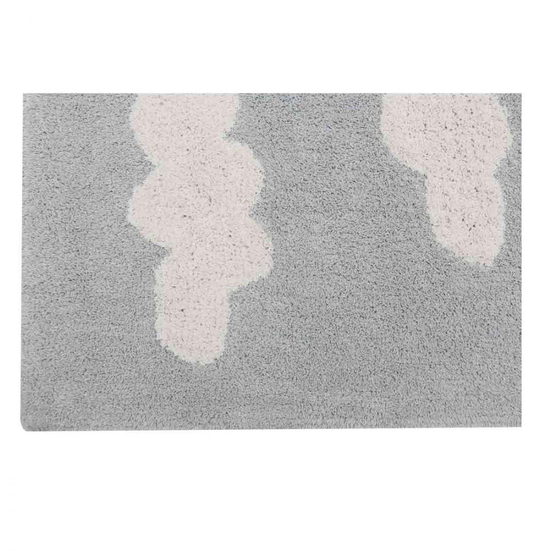 tapis enfant coton lavable gris nuages blanc lorena canals ma chambramoi. Black Bedroom Furniture Sets. Home Design Ideas