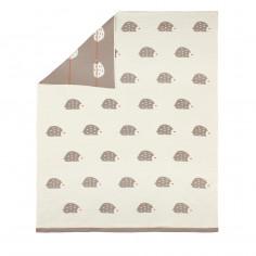 Couverture enfant plaid 80x100 cm coton Hérisson