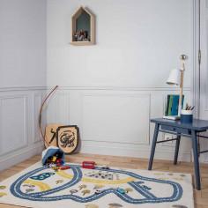 Tapis enfant acrylique 100x150cm Circuit course voitures