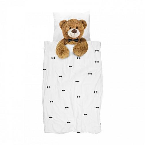 Housse de couette enfant effet Trompe l'oeil Ours Teddy Bear 140x200cm Snurk