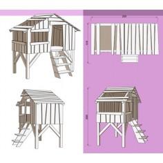 Lit cabane enfant Mathy by Bols plan