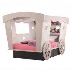 Lit cabane enfant Roulotte L 120 cm Mathy by Bols