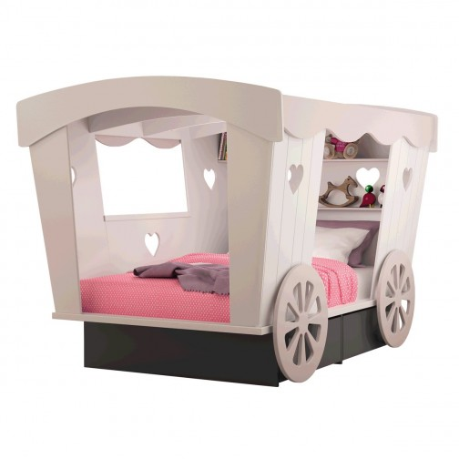 lit cabane enfant roulotte l 120 cm mathy by bols ma chambramoi. Black Bedroom Furniture Sets. Home Design Ideas