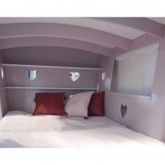 Lit cabane enfant Roulotte L 120 cm Mathy by Bols interieur
