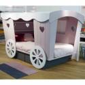 Lit cabane enfant Roulotte L 120 cm Mathy by Bols vue côté