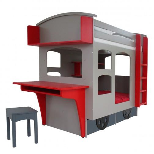 Lit superposé cabane Train Wagon couleurs au choix - Ma Chambramoi