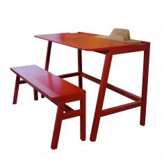 Bureau écolier rouge