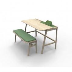 Petit bureau enfant chêne Vessel - Mathy by Bols