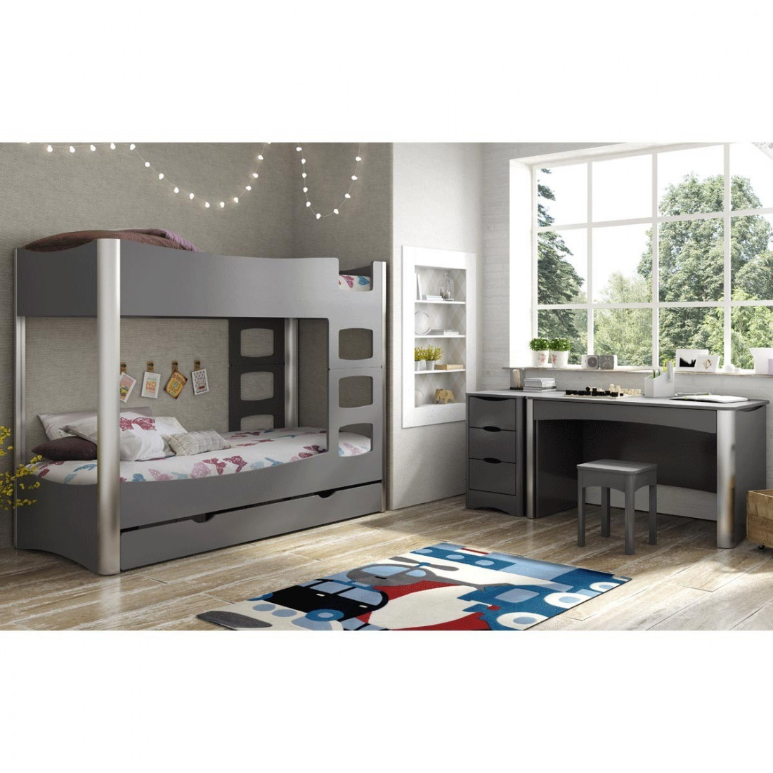 bureau enfant 1 tiroir fusion mathy by bols ma chambramoi. Black Bedroom Furniture Sets. Home Design Ideas