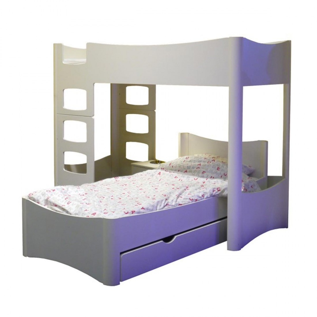 lit enfant sur lev 162 fusion mathy by bols ma chambramoi. Black Bedroom Furniture Sets. Home Design Ideas