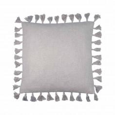 Coussin de sol coton gris fil argenté Joséphine Nattiot