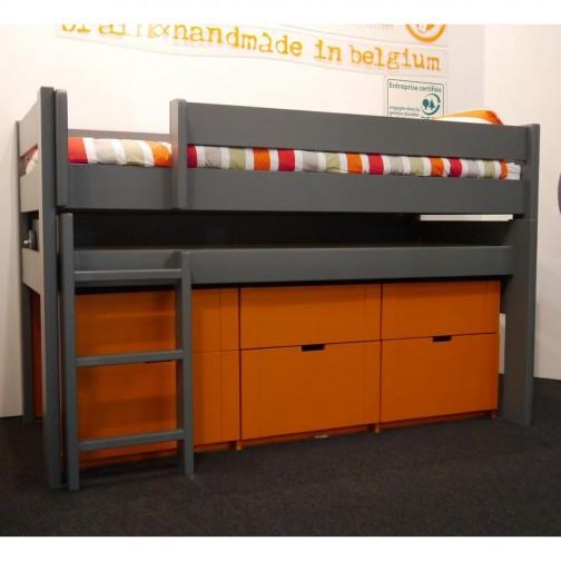 lit avec rangements en bois