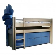 lit combiné en bois