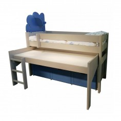 lit enfant avec bureau mathy
