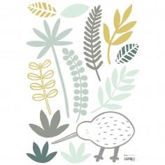 Stickers enfant Oiseau et feuilles Lilipinso