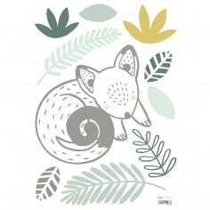 Stickers enfant Ecureuil et feuilles Lilipinso