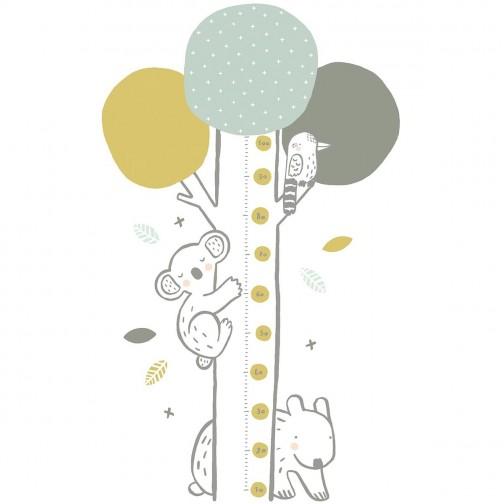Toise adhésive enfant Koala bleu vert Lilipinso