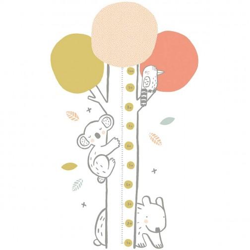 Toise adhésive enfant Koala rose Lilipinso